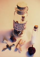 Anti-Vampire Charm Bottle by Crimefish