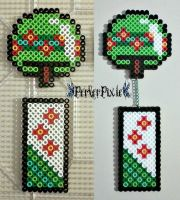 Green Japanese Wind Chime by PerlerPixie