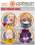 One Punch Man buttons by jinyjin
