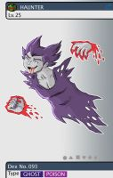 Gijinka Pokemon 093 Haunter by saurodinus