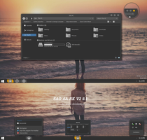 SAO dARK V2 Theme Windows 8.1 by cu88