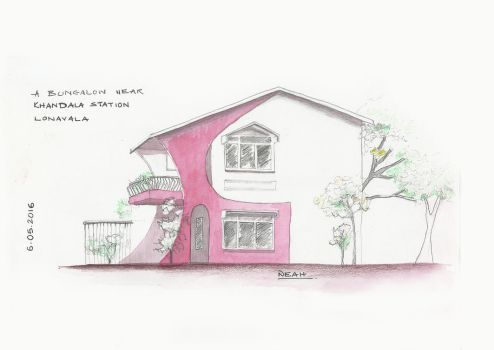A Pink Bungalow in Khandala by COTTCANDY