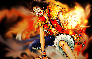 luffy smudge by luquitasabee