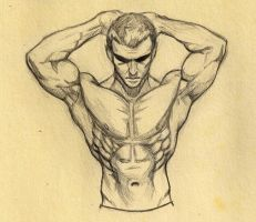 male figure study 02 by superchickenn123