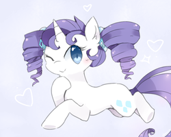 Rarity w/ Pigtails by Milkii-Ways