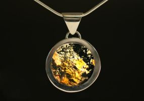 Moss Agate Pendant - reverse by HappyThawts