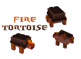 Minecraft Mob: Fire Tortoise by Marcus123474