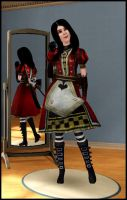 Sims 3 Alice Royal Dress by jagged66