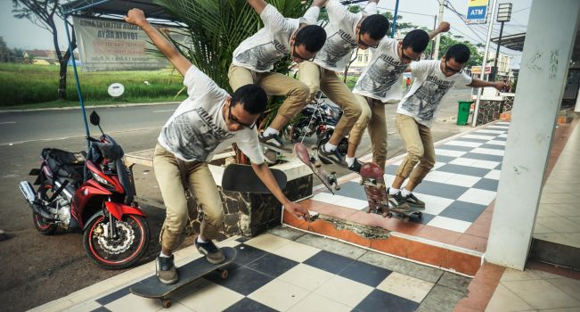 Kickflip In Motion by PonoPPhotograPh
