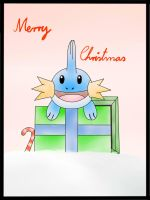 Mudkip Christmas Card by Icedragon300