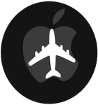 Apple Logo With Plane logo vector(with speedpaint) by WindyThePlaneh