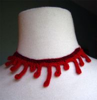 crochet slit throat necklace by meekssandygirl