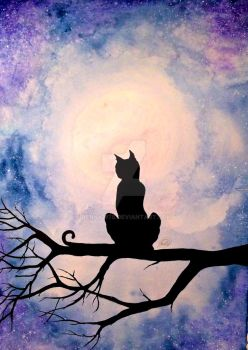 Silhouette Cat by Jenny1978