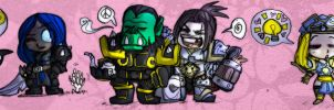WoW Chibi's by Drunkfu