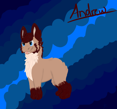 Andrew the Blobbin! OuO by VyrenTheWolfDragon