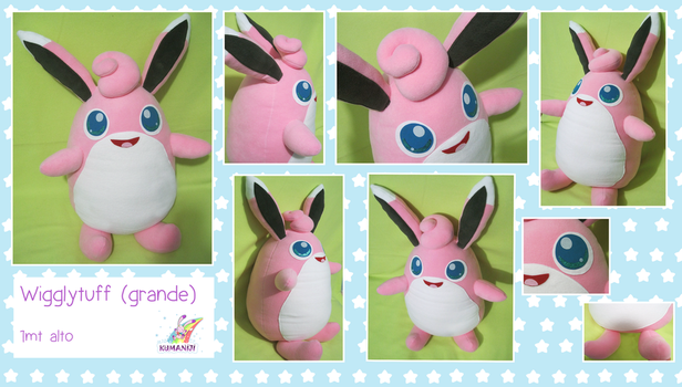 Wigglytuff big plushie by chocoloverx3