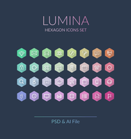 Freebie - Lumina,hexagon Icons Set by GraphBerry