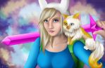 Adventure Time! Fionna and Cake by Kaira27