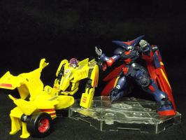 Stunticon Dragstrip kickin back and relaxing by forever-at-peace