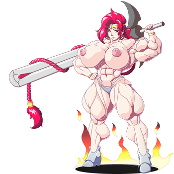 teela s sexy female muscle flex by female muscle ics