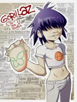 Noodle- Gorillaz by TheIronMountain