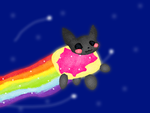 Super awesome nyan cat! by CecilieSkarbo