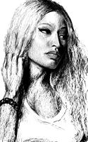 Nicki Minaj SketchBook Ink Samsung Galaxy Note by MichalBednarczyk