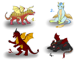 Baby Dragons - Draw To Adopt ! [CLOSED] by Ardate