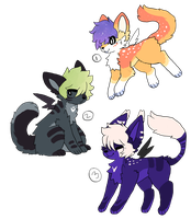 Adoptables (Set 1) : POINTS AND PAYPAL by qhosttoast