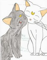 luna and artemis by usagi30002000