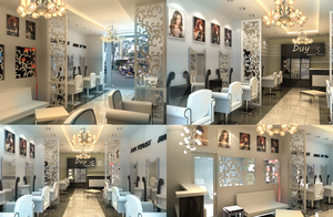Hair Salon 3D render by nnq2603