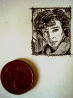 Mini portrait Sherlock by Lilithart13