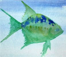 Small Fish, Green and Blue by Phishmonger