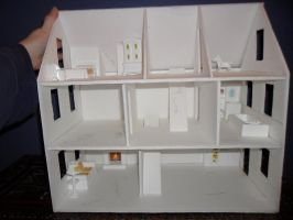 Second Foam Core Dollhouse WIP 3 Configuration by kayanah