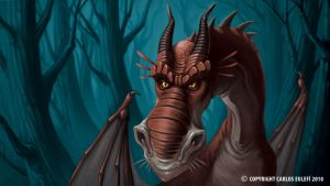 Embittered Dragon by Kaek