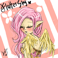 Fluttershy Gijinka by xStarry-Night
