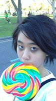 Me as L with lollipop by smileys-4-eva