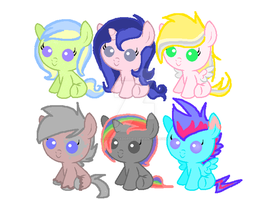 Pony Adoptables 1- Closed by SquishyAdopties
