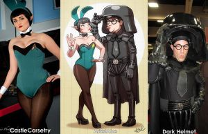 Castle Corsetry and Dark Helmet cosplay by ArtistAbe