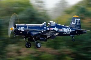 Corsair Takeoff by aviationbuff