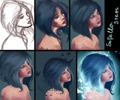 Quick portrait steps by elenyan