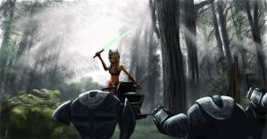 Ahsoka on Endor by Raikoh-illust