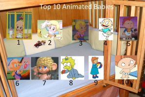 My Top 10 Animated Babies by BlazeHeartPanther