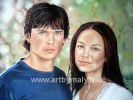 Tom Welling and Kristin Kreuk by artbymaly
