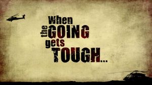 When the Going Gets Tough Title Graphic by graph-man