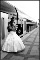 Romance At The Train Station by McSes