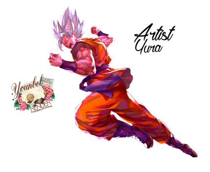 Goku Super Saiyan God Render By YounBel2000 by younbel2000