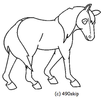 MS Paint Friendly Horse Lines by 490skip
