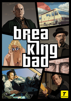 Breaking Bad GTA Poster by tuonenjoutsen