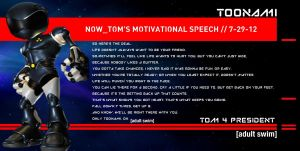 Toonami: Tom's Motivational Speech: Life by JPReckless2444